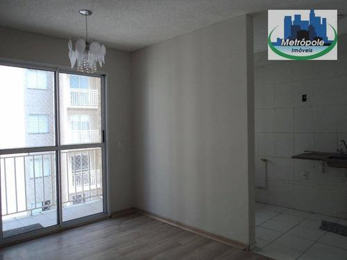 Apartamento Com 2 Dormitórios À Venda, 49 M² Por R$ 270.000,00 - Jardim Bela Vista - Guarulhos/sp - Ap0252