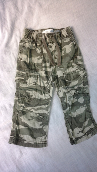 Calça Infantil Old Navy Straight Droit -camuflado - 12 A 18m