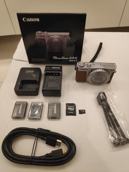Canon Powershot G9x Markii 64gb, 3 Baterias E 2 Carregadores