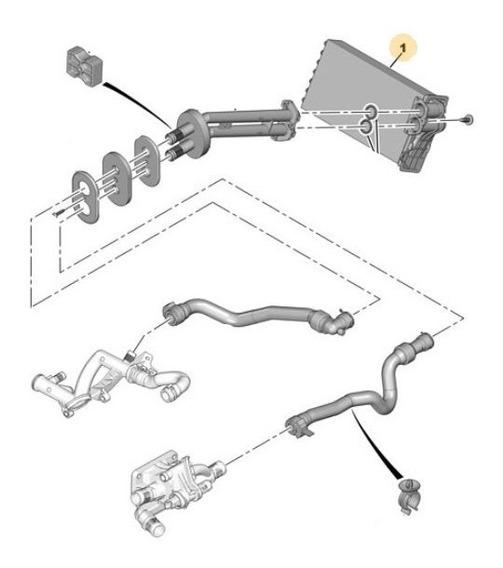 Radiador Climatizador Peugeot 207 1.6 Thp