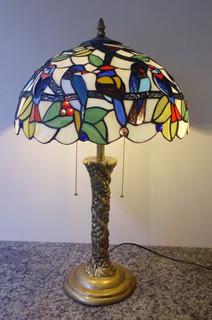 Abajur Escultura Tiffany Importado Papagaio ( Cod 16288 )