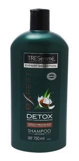 Shampoo Tresemmé Detox Sábila Y Aceite De Coco 750 Ml