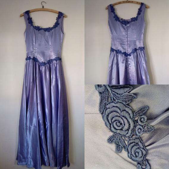 Vestido De 15 Lila - Raso Saten Y Encaje En Mar Del Plata