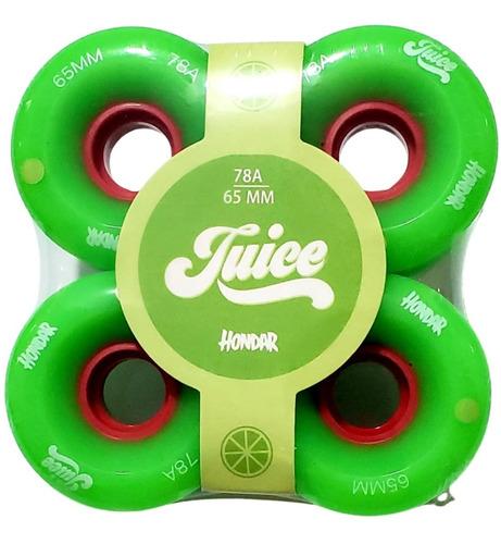 Roda Longoboard  Hondar Juice 65mm  78a Verde  Freestyle