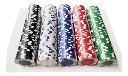 50 Fichas Póker Profesionales Gruesas Calidad Casino Vip