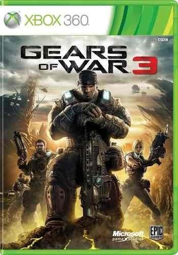 Jogo Xbox 360 Gears Of War 3 Xbox 360 Mídia Original