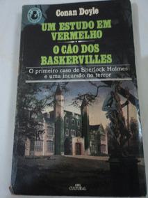 Livro-um Estudo Em Vermelho-o Cão Dos Baskervilles:c.doyle