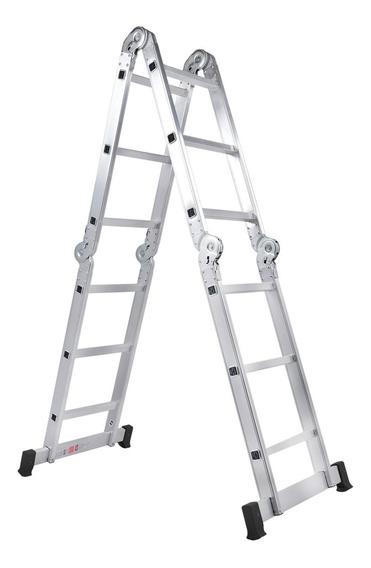 Escada Articulada 4x3 Alumínio 13 Em 1 Com 3,39m Bumafer