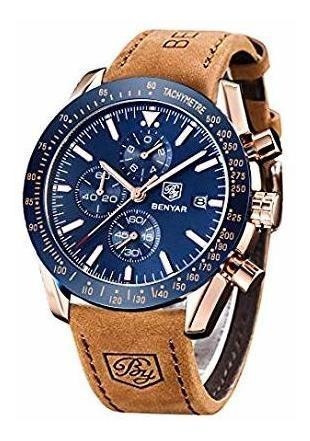 Benyar Classic Fashion Elegant Chronograph Watch Casual