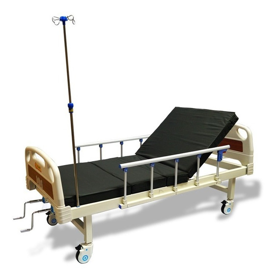 Cama Hospitalaria Manual De Lujo Con Colchon Envio Gratis