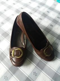 Zapato Flats Café Usado