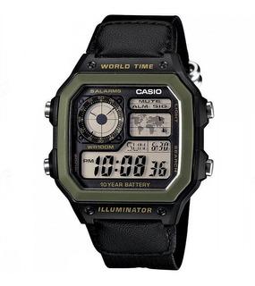 Reloj Casio Ae-1200whb Hombre 5 Alarmas 100m Sumergible