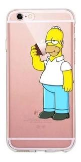 Capa Capinha Case Desenhada Homer Simpson iPhone 8