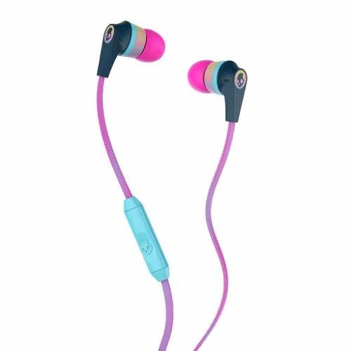 Audifonos Skullcandy Ink´d 2.0 Navy Microfono Pink Yellow