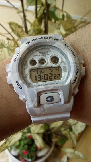 Relógio Casio G-shock Gd-x6900mc-7 Camuflado Neve