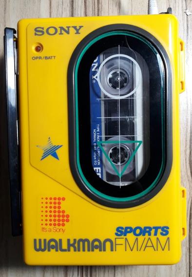 Walkman Sony Sports Wm-f45 ( Rádio & Tape Funcionando ) Anos 1980 Raro!