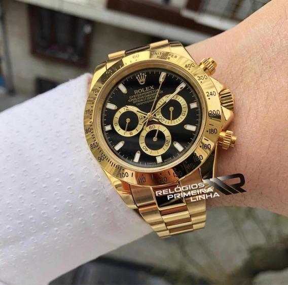 Rolex Dourado Com Preto Daytona