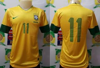 Camisa Oficial Futebol Brasil Cbf 2012 De Jogo # 11 Neymar