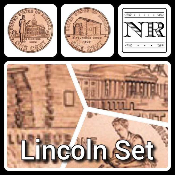 Lincoln Set 5 Monedas 2009 + Moneda Regalo