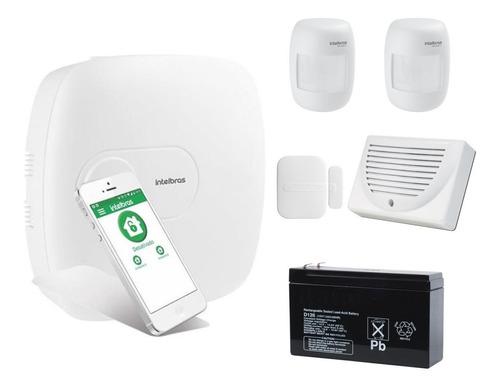 Kit De Alarma Ip Hibrida Intelbras Con Sensores Inalambricos
