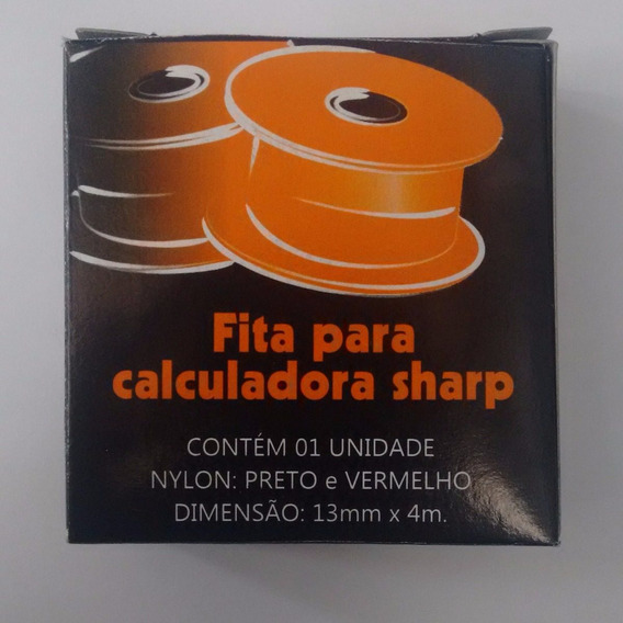 Fita Para Calculadora Sharp Nylon Unidade 13mm X 4m