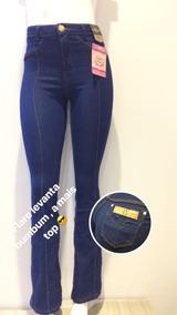 Calça Jeans Flare Levanta Bumbum Frete Gratis