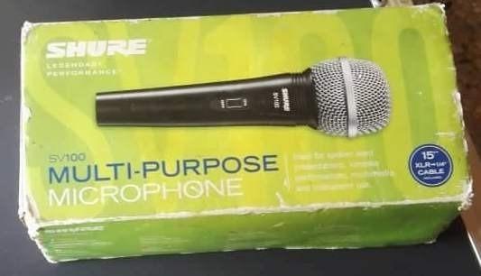 Microfono Shure Sv100 15``