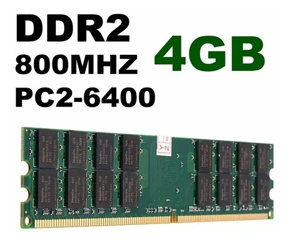 Memória 4gb Ddr2 800mhz Pc2-6400 Original Hynix Kingston Amd