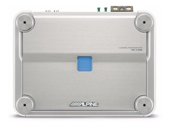Potencia Alpine Pdx-4.100m 4 Canales Marina Audio Secrets