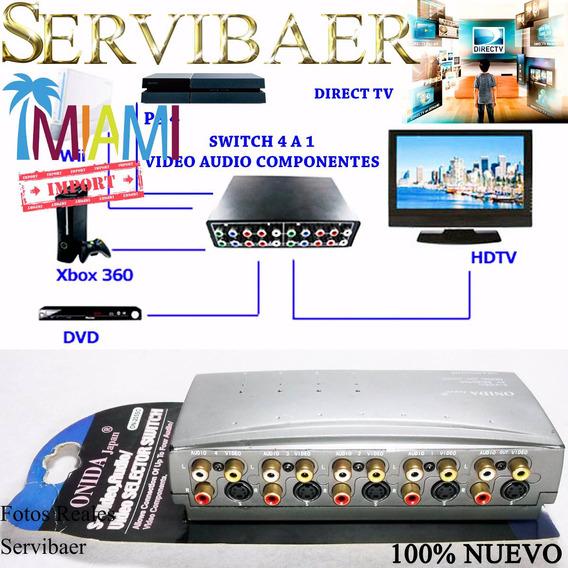 Multiplicador Audio & Video Svideo Consola Blu-ray Direct Tv