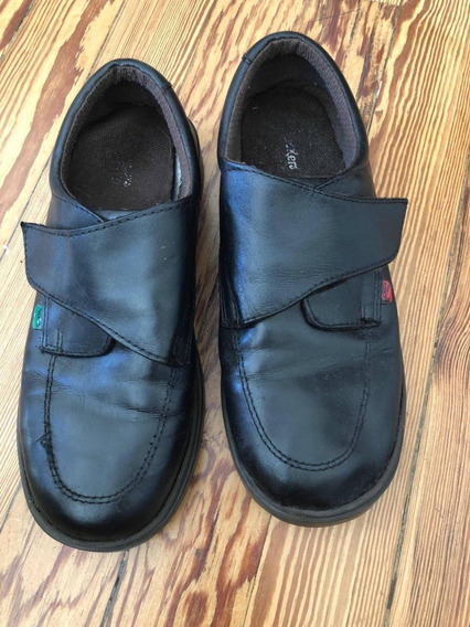 Zapatos Grimoldi Con Abrojos De Cuero Escolares Plantilla 25
