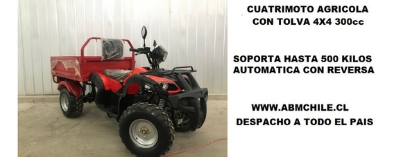 Cuatrimoto Agricola Todo Terreno Con Pick Up 2.900.000 4x4