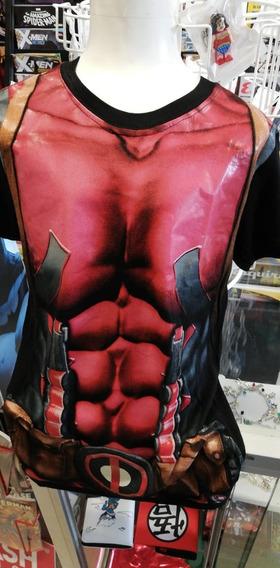 Playera Deadpool Niño Lycra Superheroe.