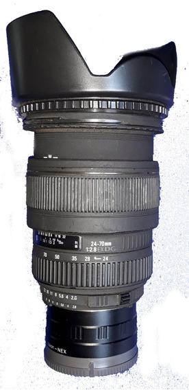 Lente Sigma Para Nikon 24-70mm - 1:2.8 Ex Dg Macro + Adaptad