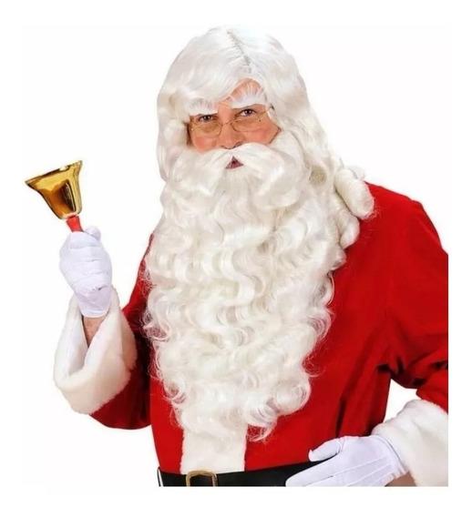 Peluca Y Barba Papa Noel - Cotillón Navidad