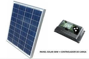 Kit Painel Placa Solar 30w Kript + Controlador 30a