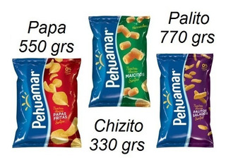 Combo Pehuamar Papa 550g+ Palito770g + Chizito 330g Liniers