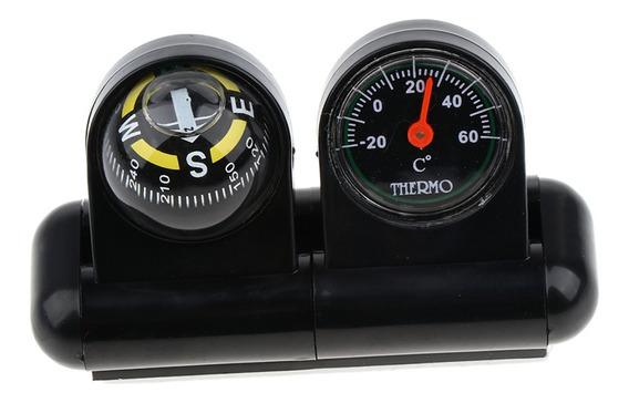 2 Em 1 Bússola Carro Removível E Termômetro Adesivo Van C
