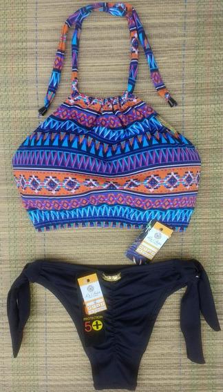 Kit Bikini Cropped Tal Mãe Tal 2 Filhas Infantil