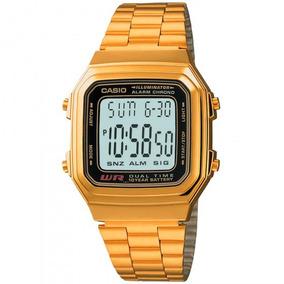 Relógio Casio A178wga-1adf Unissex Dourado - Refinado
