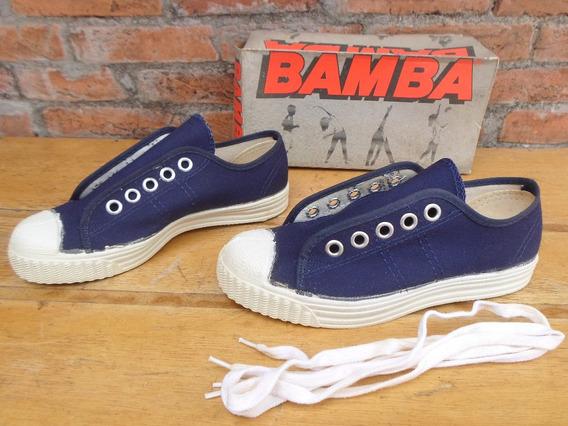 Tenis Bamba Monobloco Cabecao Azul 35 36