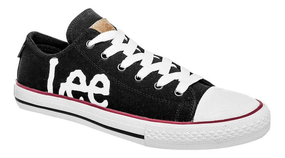 Tenis Casual Hombre Lee A-72 Negro Tipo Convers 25-29 T4