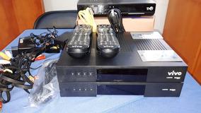 Kit Receptor De Tv A Cabo Vivo Hd- Desbloqueado Cartão 1 Ano
