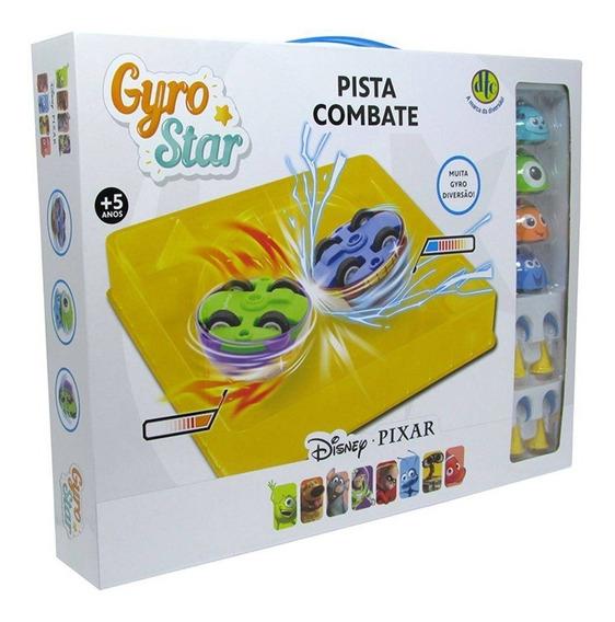 Kit 4 Gyro Star Pista De Combate Arena Disney Pixar Dtc