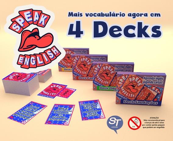 Card Game Speak English - Edição Com 4 Decks
