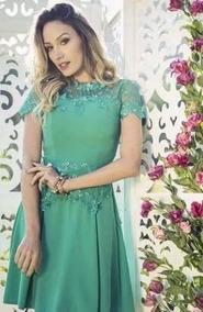 Lindo Vestido Evangelica Elegante Frete Gratis Cod#green
