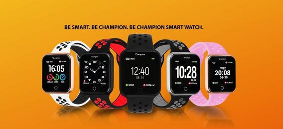 Relógio Champion Smart Bluetooth 4.0 Preto Pulseira Preta Ch