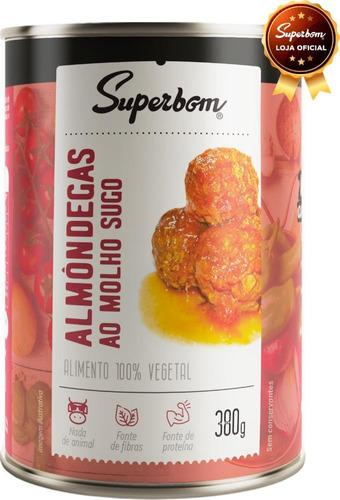 Almôndegas Veganas Ao Sugo 400g - Superbom.