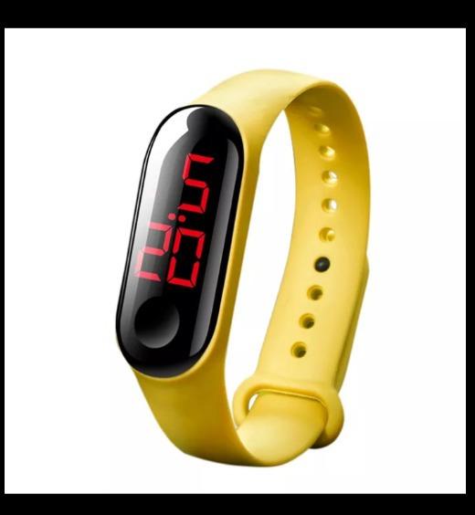 3 Relógio Led Silicone Várias Cores+sorteio Promoção Imperdi
