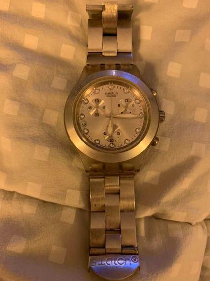 Relógio Swatch Swiss Prata Usado Em Ótimo Estado